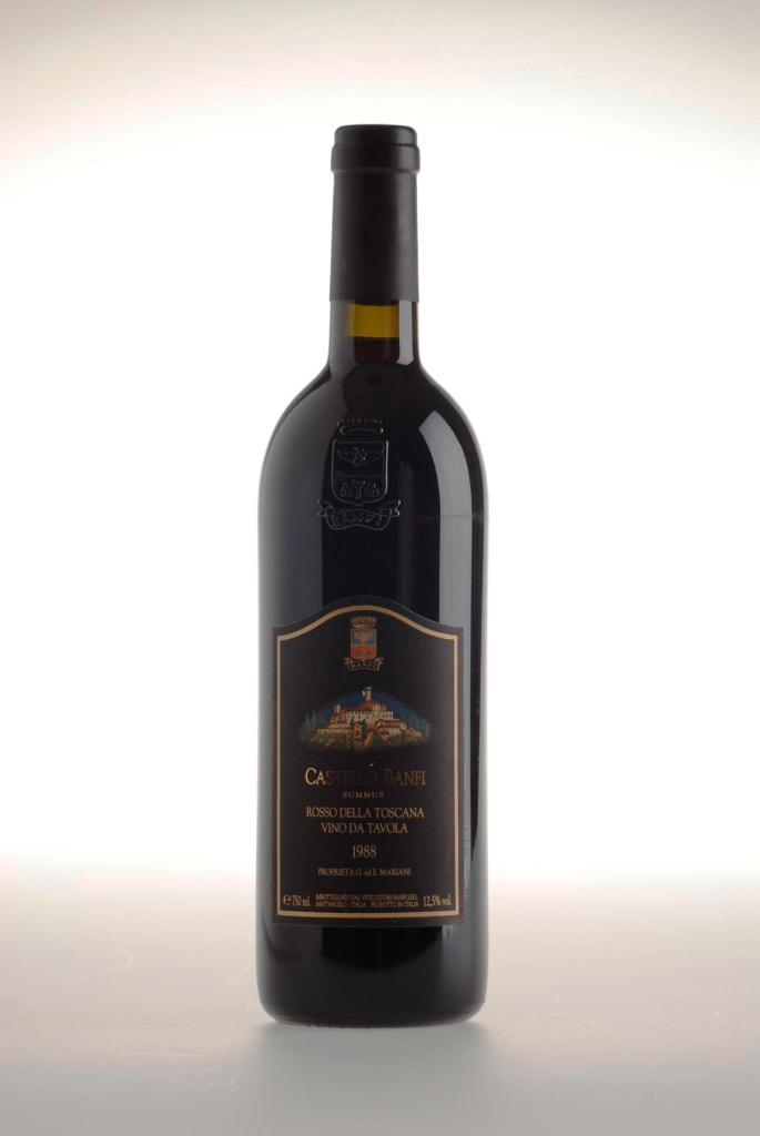 351. Summus Castello Banfi 1988 Woodedn Case containing 6 bottle